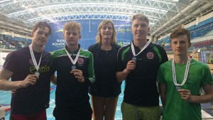 winning Relay with Ennis and SI chairperson Clare McGrath
