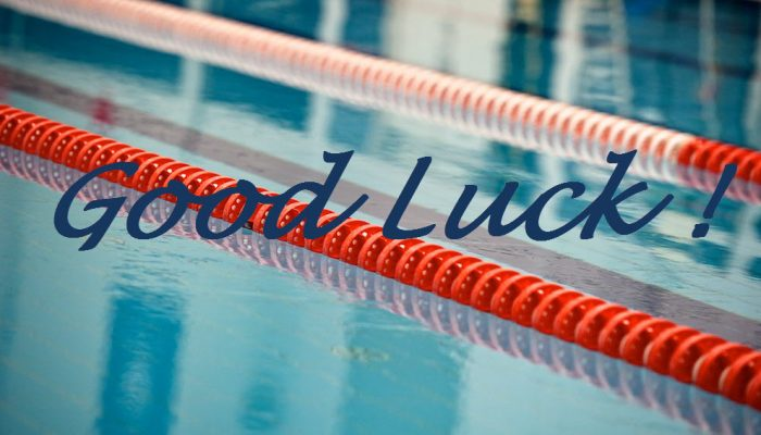 good luck swim meet photo
